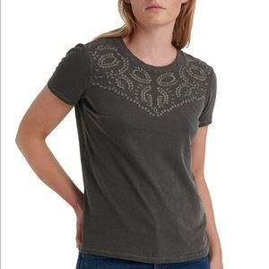 Lucky Brand: Embroidered Cotton T-Shirt
